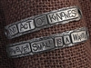 American Pewter Double Leather Cuff Plates NO ACT OF KINDNESS HOWEVER SMALL IS A WASTE