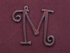 Rusted Iron Initial M Pendant