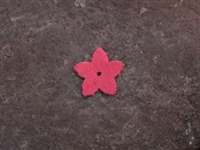 Leather Flower Pointed Tips Small Watermelon