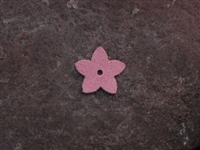 Leather Flower Pointed Tips Small Pink
