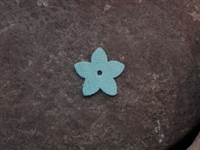 Leather Flower Pointed Tips Small Mint