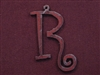 Rusted Iron Initial R Pendant