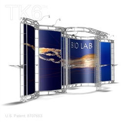 BIO LAB 10 X 24 FT BOX TRUSS DISPLAY BOOTH<BR>[FRAME ONLY]