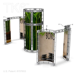 Bora 20 X 20 Ft Box Truss Display Booth