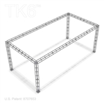 Baltimore 10 X 20 Ft Box Truss Display Booth Lighting Truss