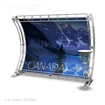 CANADA 1  - 9FT X 7FT TRUSS BACKWALL DISPLAY <BR> [FRAME ONLY]