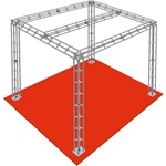 HONG KONG - 10X10 TRADE SHOW TRUSS BOOTH, WITH CROSS SUPPORT<BR>[FRAME ONLY]