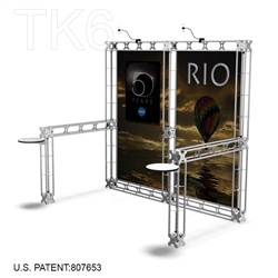 Rio De 10 X 10 Ft Box Truss Trade Show Display Booth