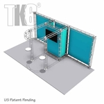 10 X 20 Ft Box Truss Trade Show Display Booth with Storage Room