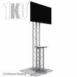 8 FT TK8 TRUSS MONITOR STAND KIOSK WITH COUNTER TABLE TOP<BR>[FRAME ONLY]