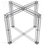Aiden - 10 Ft X 10 Ft TK8 Aluminum Box Truss Booth