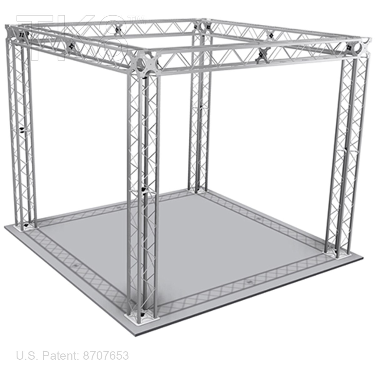 jacob 10ft x 10ft tk8 aluminum box truss booth br frame only