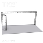 Logan - 10 Ft X 20 Ft TK8 Aluminum Box Truss Booth