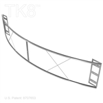 Sign Frame, Curve 99in By 18in For 8in TK8 Truss Displayers