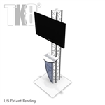 8 Ft TK8 Truss Monitor Stand Media Station