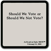 Should We Vote or Should We Not Vote?