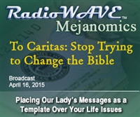 To Caritas: Stop Trying to Change the Bible - Mejanomics April 16, 2015