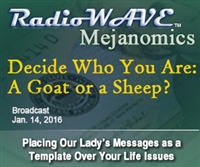 Decide Who You Are: A Goat or a Sheep?- Mejanomics January 14, 2016