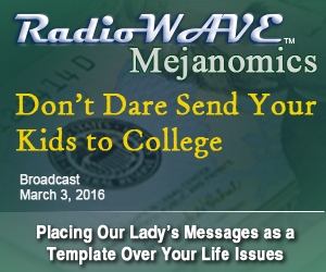 Don't Dare Send Your Kids to College- Mejanomics March 3, 2016