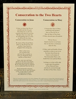 Consecration to the Two Hearts  Laminated