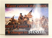 Water Cannot Stay Water... Placard