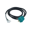 "Hydroquip Green Molded Power Cord 48"" , 30-0270-48C"