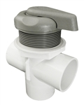 "Waterway 2"" Top Access Diverter Valve Gray, 5 Scallop, Textured"
