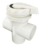 Waterway Top Access Diverter Valve White Scalloped