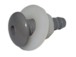 "Waterway Button Style Air Injector, Gray, 1/4"" Barb"