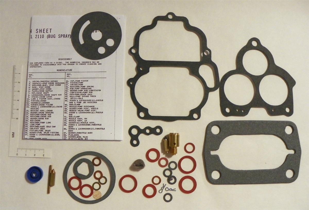 Holley 94 Carburetor Rebuild Kit Ford Model AA-1 2100 Fuel Sys Repair  Bugspray