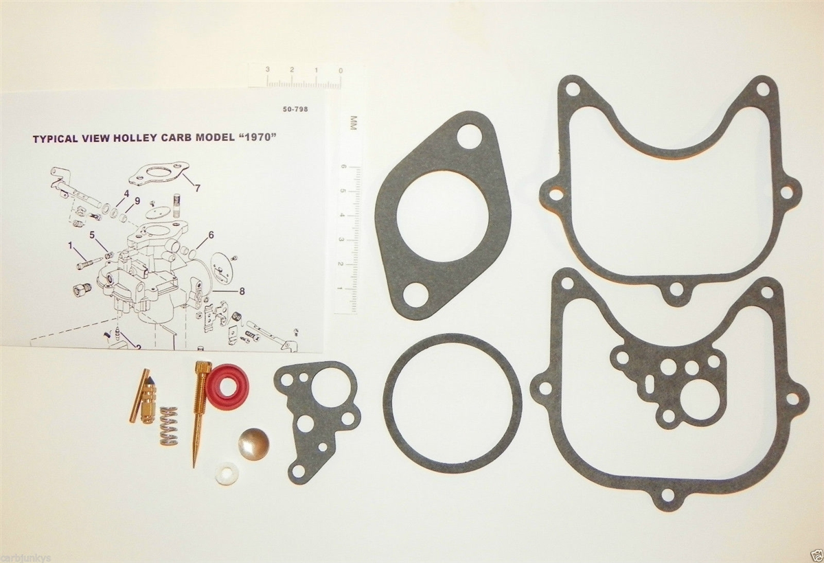 Holley Model 1970 Carburetor Rebuild Kit Agri Indust Repair Ford  Allis-Chalmers