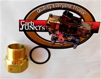"7/8-20 Fuel Inlet Nut Fitting QuadraJet Carburetor OEM Brass 7/8"" 20 with Gasket"