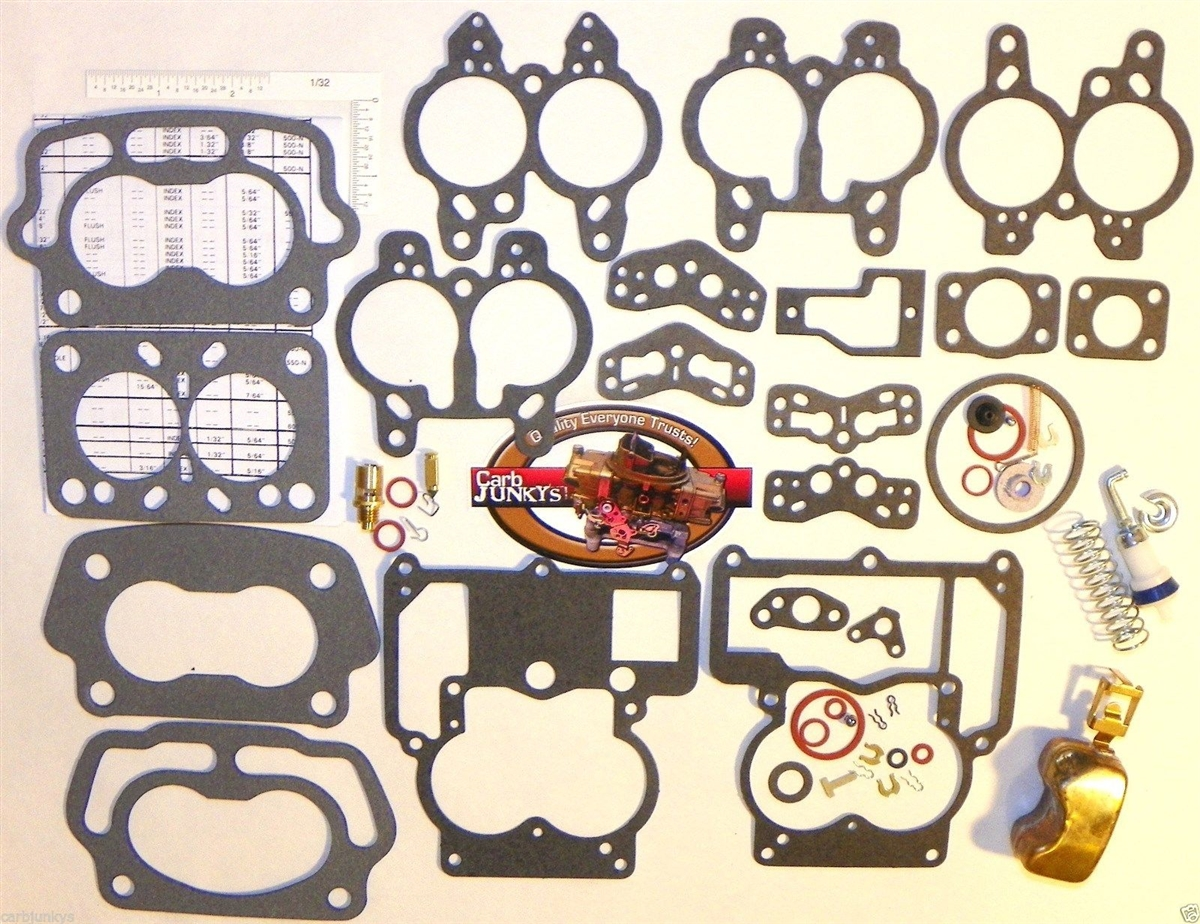 1955 69 Carburetor Rebuild Repair Kit Rochester 2B Chevy 283 350 New Brass  Float