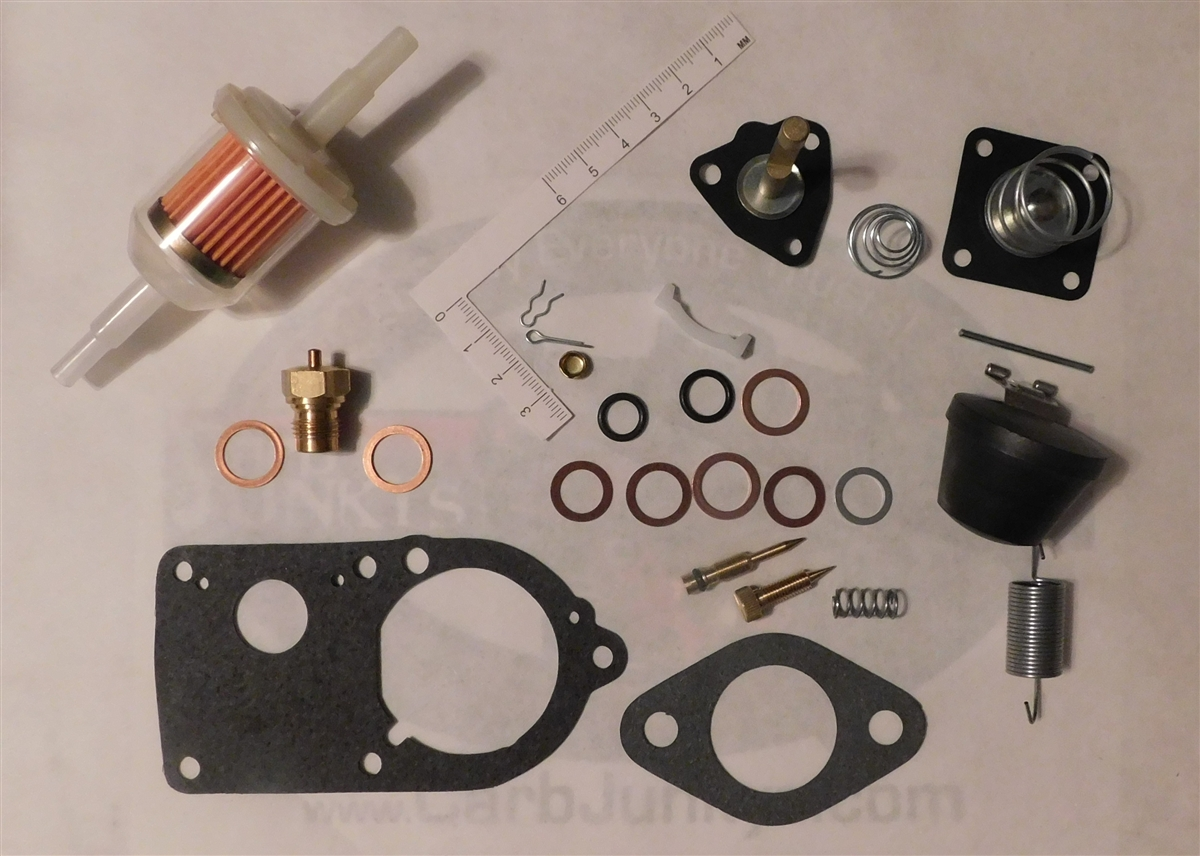 28 PICT 1 2 30 PICT 1 Solex Carburetor Rep Kit VW Beetle Float Acc Nozzle  Spring