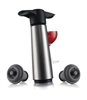 Stainless Steel Wine Saver Pump and 2 Stoppers