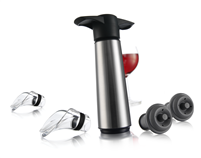 Stainless Steel Wine Saver Pump Gift Set