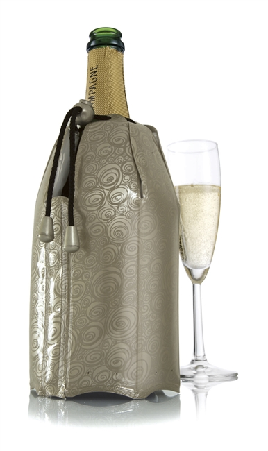 Vacu Vin Active Champagne Cooler in Platinum