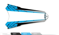 Custom Rear Fender Decal - Fissure design