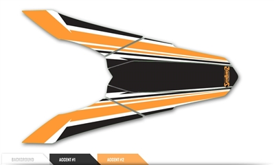 Custom Rear Fender Decal - Prism design