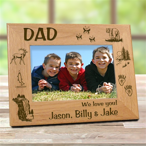 outdoor man picture frame