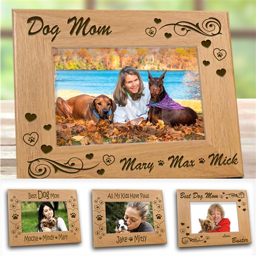 Dog Mom Picture Frame