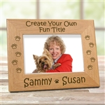Create Your Own Dog Paws Picture Frame