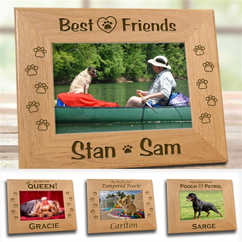8x10 4x6 5x7 Personalized BEST BUDS Custom Dog Picture Frame
