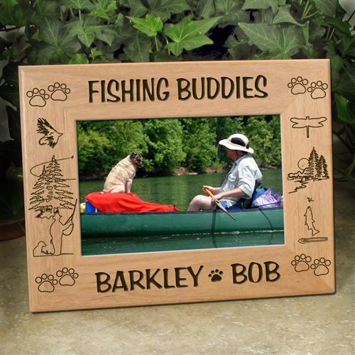 'Fly Fishing Buddies' Dog Frame