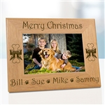 Merry Christmas Dog Frame
