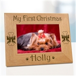 My First Christmas Dog Frame