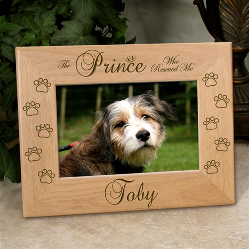 Dog Who Rescued Me Picture Frame