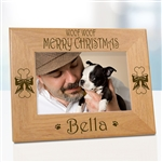 Woof Woof Merry Christmas Dog Frame