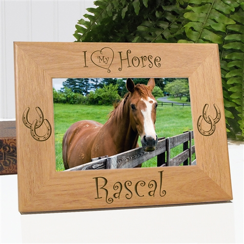 Horseshoe Picture Frames | Personalized Horse Gifts