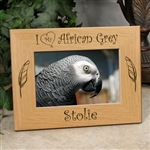 I Love My African Grey Photo Frame